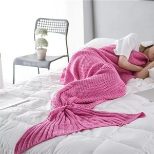 Mermaid tail blanket kids size